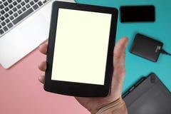 Tischplatteansicht, lassen Raum für Anzeige Ihres Inhalts lizenzfreies stockfoto