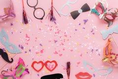 Tischplatteansicht-Luftbild der schönen Passfotoautomatstütze für Parteikarneval stockfotos