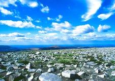 Tischplatten-Berg in Wales Stockbilder