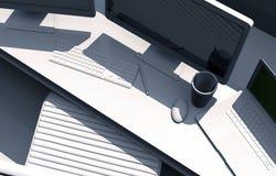 Tischplattenarbeitsplatz 3D Stockfotografie