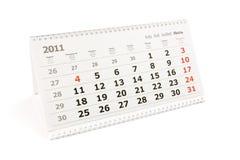 Tischplattenkalender Lizenzfreies Stockbild