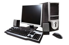 Tischrechner Lizenzfreie Stockfotos