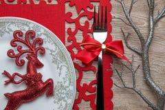 Tischschmuck auf dem Silvesterabend Lizenzfreie Stockfotos