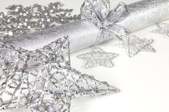 Tischschmuck im Silber lizenzfreie stockfotos