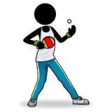 Tischtennis-Spielerikone Stockbild
