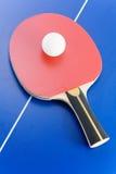 Tischtennisausrüstung Stockfoto