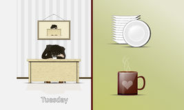 tisdag? vektor illustrationer