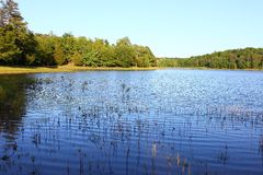 Tishomingo State Park. Haynes Lake at Tishomingo State Park in northern Mississippi Stock Photos