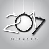 Happy New Year, 2017. Black and white colors Stock Photo