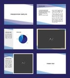 Presentation template design with beams in blue tones. Vector illustration vector illustration