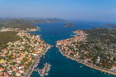 Tisno aerial Stock Images