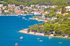 Tisno village on island of Murter Stock Photography