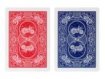 Tisonnier d'arrière jouant des cartes d'isolement Images libres de droits