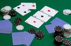 Tisonnier dans le casino images stock