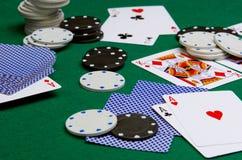 Tisonnier dans le casino image libre de droits