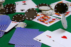 Tisonnier dans le casino photo libre de droits