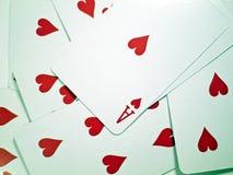 Tisonniers des cartes de jeu Images libres de droits
