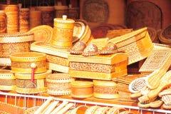 Tissé des souvenirs d'écorce de bouleau Photo stock