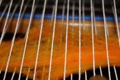 Tissage de métier à tisser de laine Photographie stock libre de droits