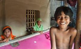 Tissage indien de femme Photos libres de droits
