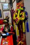 Tissage tibétain et broderie, 2013 WCIF Photographie stock libre de droits