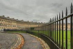 Tissant autour du croissant royal, Bath - octobre 2018 photographie stock