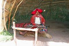 Tisserand péruvien Photos libres de droits