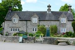 Tissington stone cottage, Derbyshire. A stone cottage and farm house in the beautiful village of Tissington, Derbyshire, UK Stock Image