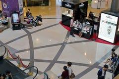 Tissot passt entgegengesetzt in Gebäude Taipehs 101 auf Stockfotografie