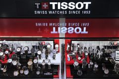 Tissot Swiss watches Royalty Free Stock Photo