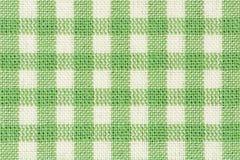 Tissu à carreaux classique vert photos stock