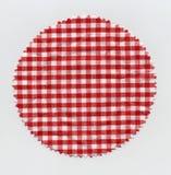 Tissu à carreaux de tissu de confiture de mamie Image libre de droits