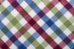 Tissu à carreaux diagonal image libre de droits