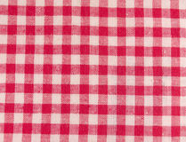 Tissu à carreaux rouge Photographie stock