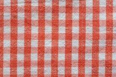 Tissu à carreaux rouge Photos stock