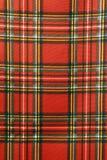 Tissu écossais Photographie stock