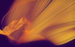 Tissu abstrait flottant dans le vent sur le fond foncé Photos libres de droits