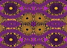 Tissu africain d'impression, ornement fait main ethnique pour vos éléments géométriques de motifs de conception, ethniques et tri Image libre de droits