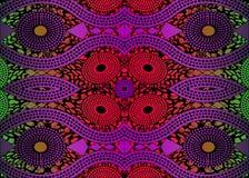 Tissu africain d'impression, ornement fait main ethnique pour vos éléments géométriques de motifs de conception, ethniques et tri Images libres de droits