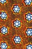 Tissu africain manufacturé (coton) photographie stock