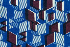 Tissu africain manufacturé (coton) Images stock