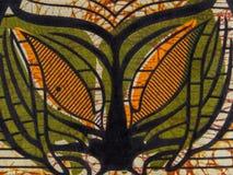 Tissu africain manufacturé (coton) Image libre de droits