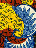 Tissu africain manufacturé (coton) Images libres de droits