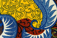 Tissu africain manufacturé (coton) Photographie stock libre de droits
