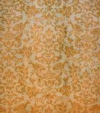 Tissu antique authentique de damassé Photographie stock