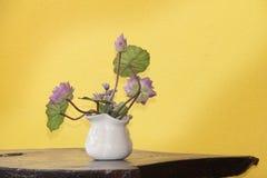 Tissu artificiel de Lotus Photo libre de droits