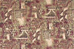 Tissu avec un modèle abstrait dans le style oriental Photo libre de droits