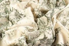 Tissu beige avec le modèle Image stock