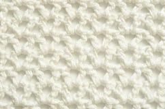 Tissu blanc de crochet Images libres de droits