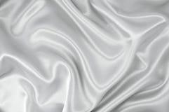 Tissu blanc de satin Images libres de droits